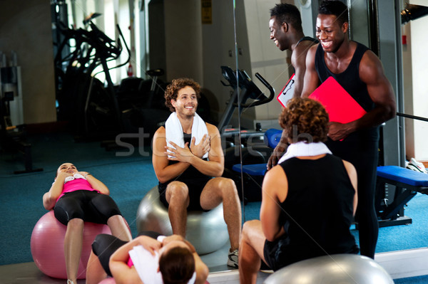 Group of people in a pilates class Stock photo © stockyimages