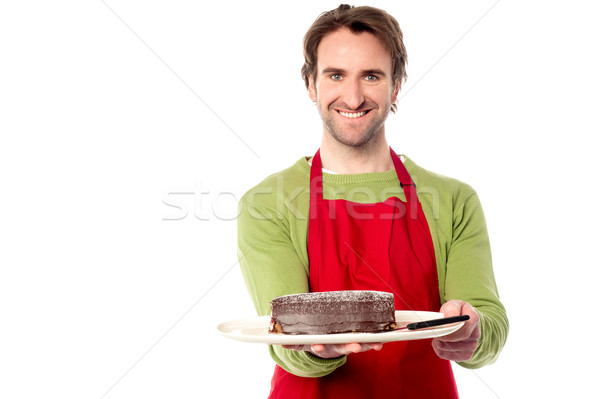 Stock photo: Here is your order sir...