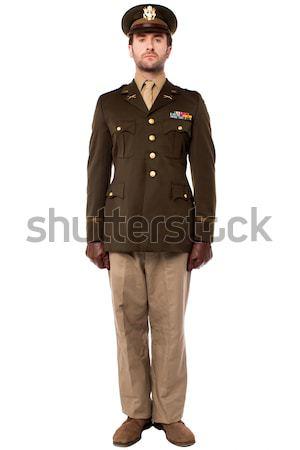 Militar oficial atenção posição imagem Foto stock © stockyimages