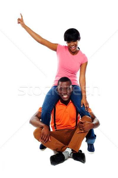 Its playtime. Couple having fun Stock photo © stockyimages