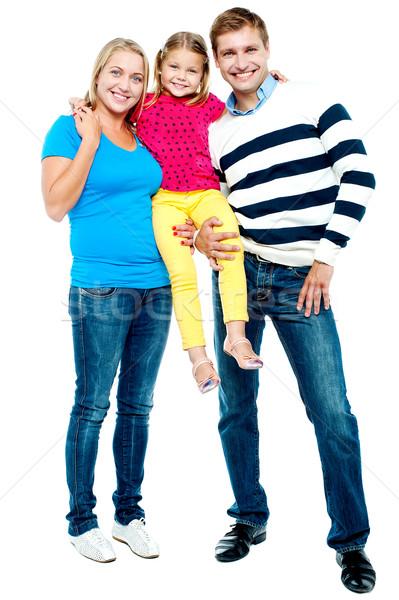 Tam uzunlukta portre aile üç moda Stok fotoğraf © stockyimages