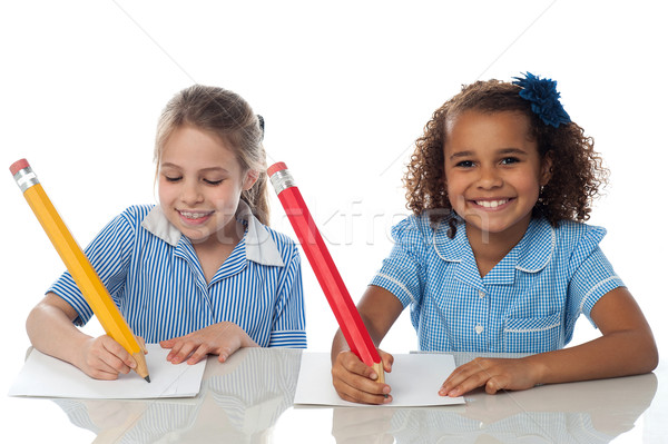 Pretty kids appearing for annual exam Stock photo © stockyimages