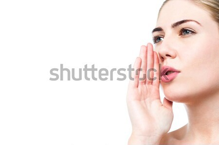 Can you hear me? Stock photo © stockyimages