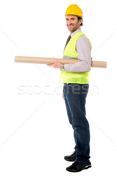 Full length shot of a construction engineer Stock photo © stockyimages