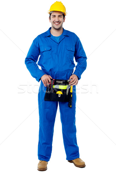 Skilled male plumber with toolkit Stock photo © stockyimages