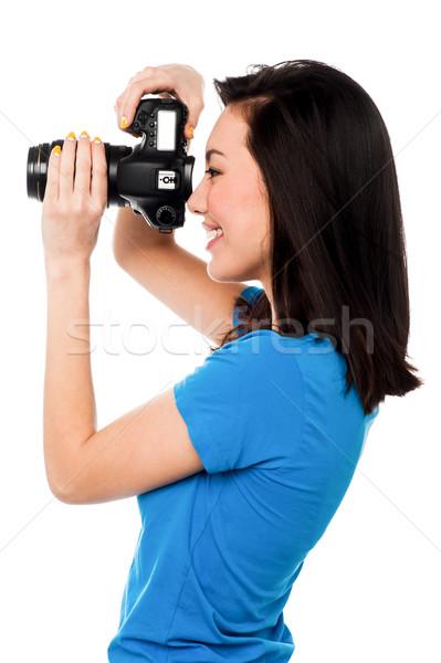 Formaggio sorriso professionali femminile moda fotografo Foto d'archivio © stockyimages