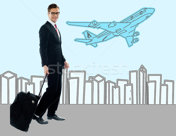 Businessman at the airport terminal Stock photo © stockyimages