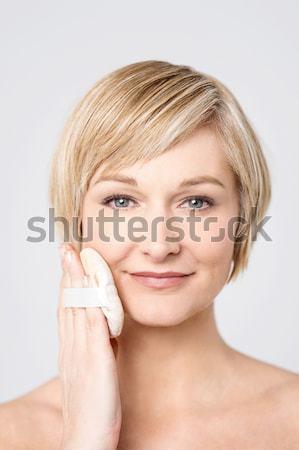 Miłości mój skóry strona stanowią topless Zdjęcia stock © stockyimages