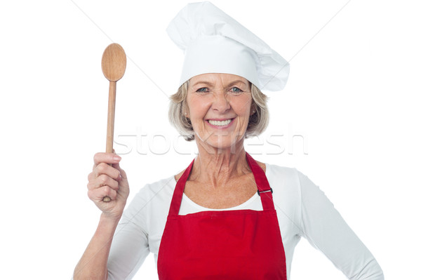 Experienced female chef posing Stock photo © stockyimages