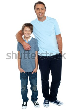 Happy matured couple posing Stock photo © stockyimages