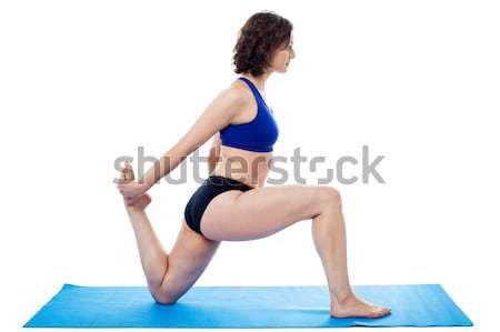 Donna aerobica aerobico Foto d'archivio © stockyimages