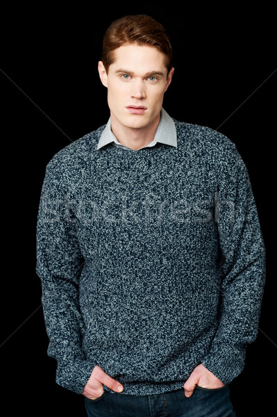 красивый молодые парень Cool чувак Сток-фото © stockyimages