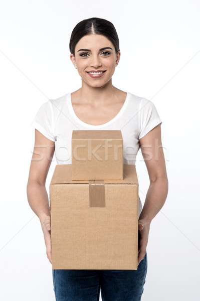 Here is your parcels, Sir !  Stock photo © stockyimages