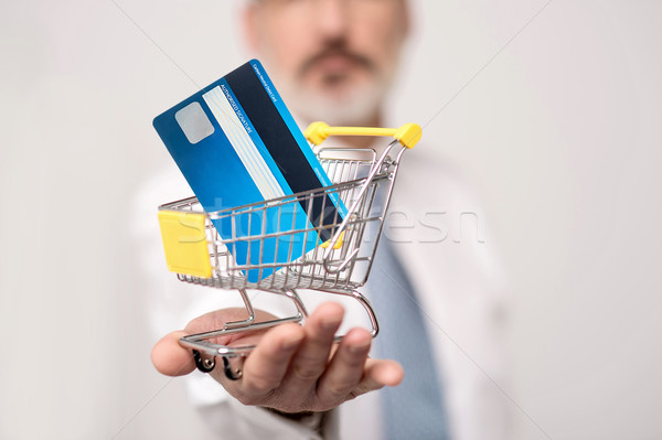 Online shopping is now safe and fast Stock photo © stockyimages