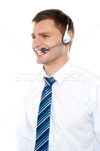 Customer support executive assisting clients Stock photo © stockyimages