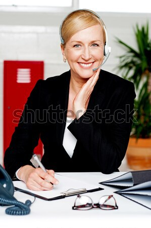 Femenino secretario nombramiento jefe mujer trabajo Foto stock © stockyimages