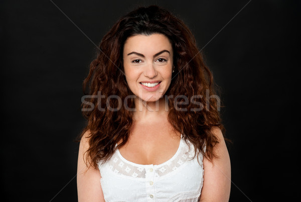 Gorgeous woman with lustrous hair Stock photo © stockyimages
