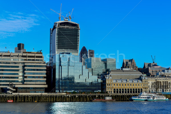 View Across Thames River, London Stock photo © stockyimages