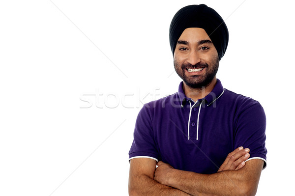 Young man posing casually over white Stock photo © stockyimages