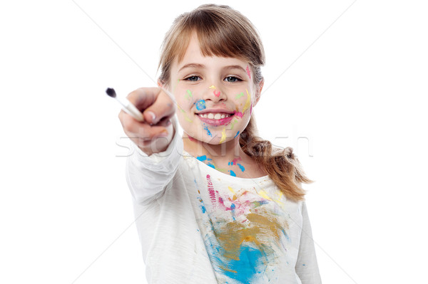 This is my new paintbrush !  Stock photo © stockyimages