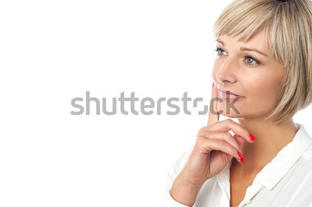 Hush...Silence please! Stock photo © stockyimages