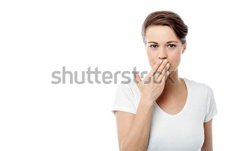 Shut your mouth ! speak no evil concept. Stock photo © stockyimages