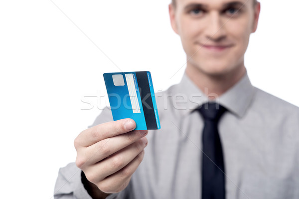 Your new credit card sir. Stock photo © stockyimages
