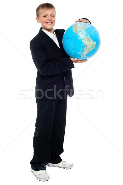 Stok fotoğraf: Akıllı · bakıyor · genç · çocuk · dünya