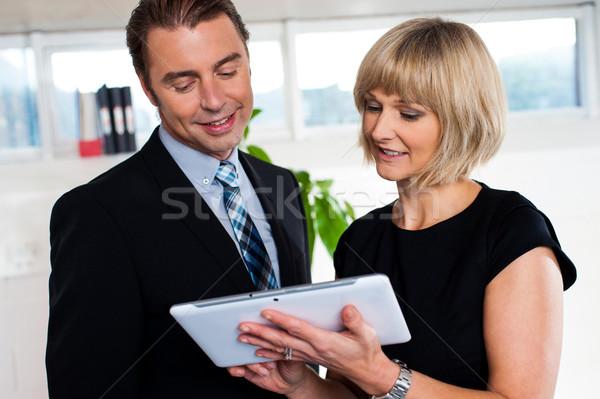 Sekreter zamanlamak patron iş Stok fotoğraf © stockyimages