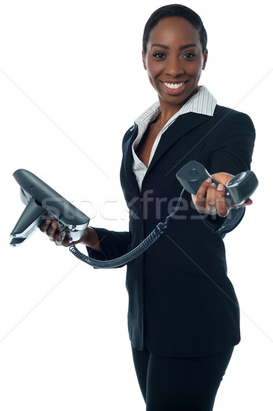 Business call for you, boss! Stock photo © stockyimages