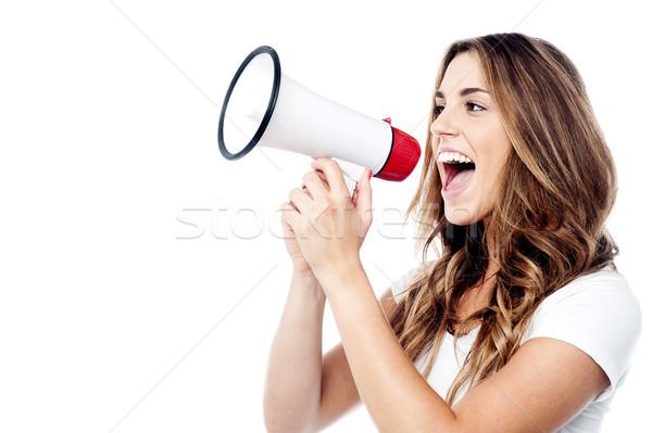 женщину как телефон слушать мне Сток-фото © stockyimages
