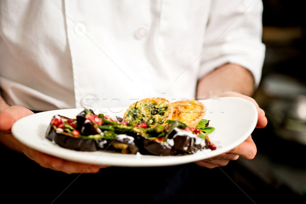 Salad is prepared and ready to serve. Stock photo © stockyimages