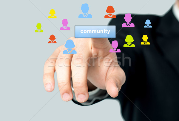 Man accessing his community page Stock photo © stockyimages