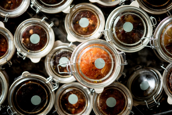 Homemade confitura of sauce Stock photo © stockyimages
