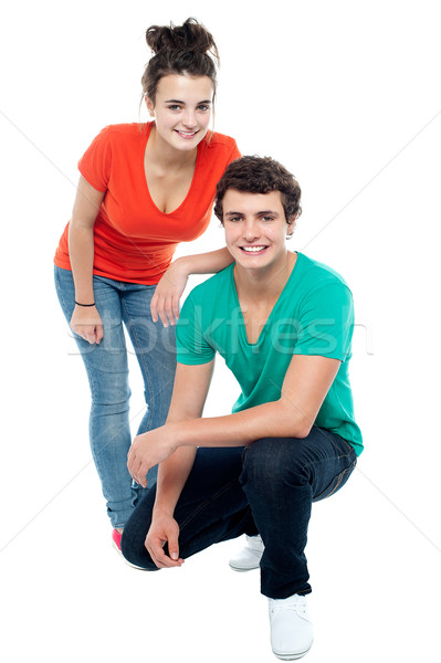 Trendy girl posing with her boyfriend Stock photo © stockyimages