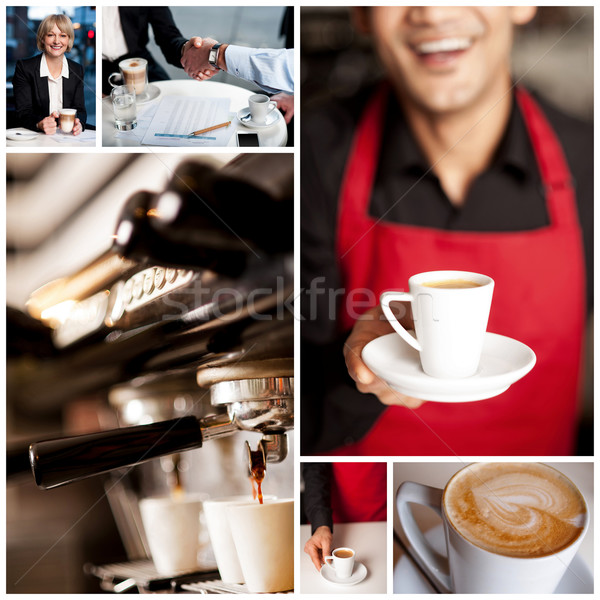 Enjoy your cappuccino! Stock photo © stockyimages