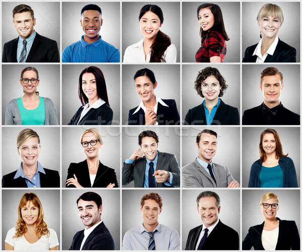Composition of diverse people smiling Stock photo © stockyimages