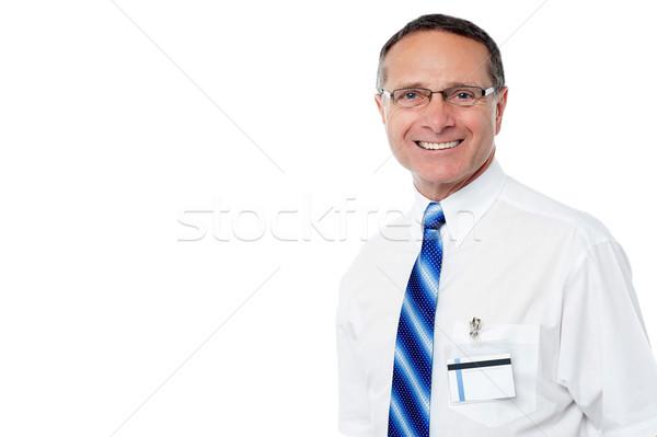 Kıdemli gülen iş profesyonel olgun işadamı Stok fotoğraf © stockyimages
