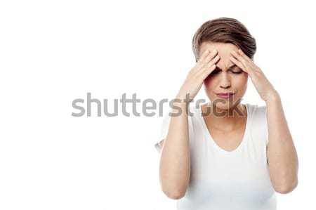 érzés borzasztó délelőtt fejfájás csalódott nő Stock fotó © stockyimages