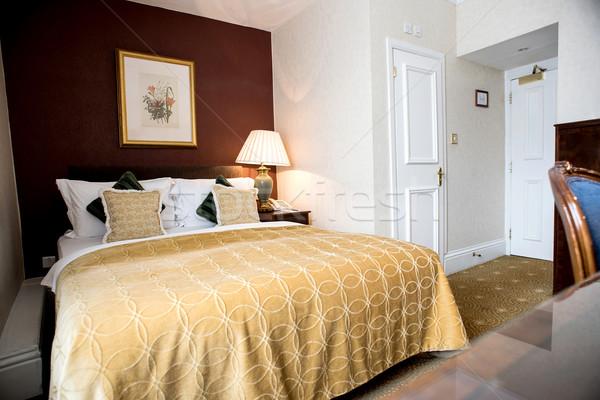Foto stock: Moderno · dobrar · limpar · quarto · decorado · mestre