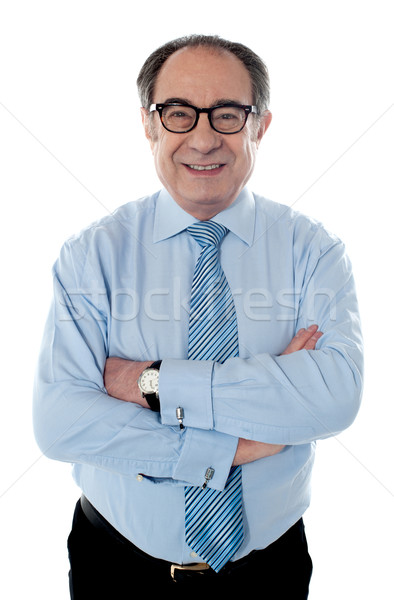 Portrait of smiling matured businessperson Stock photo © stockyimages