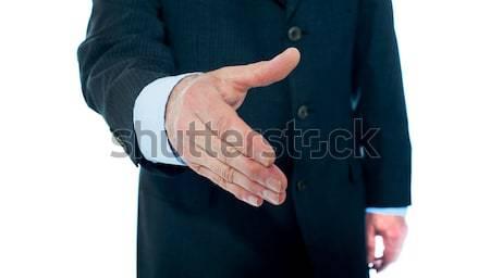 Stock photo: Modern businessman offering handshake