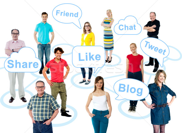 Social media is taking over the world Stock photo © stockyimages