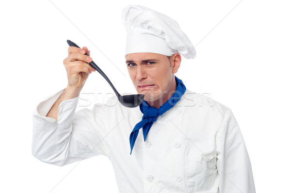 Chef tastes awful food Stock photo © stockyimages