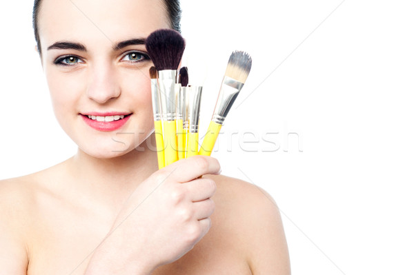 These are my make up secrets ! Stock photo © stockyimages