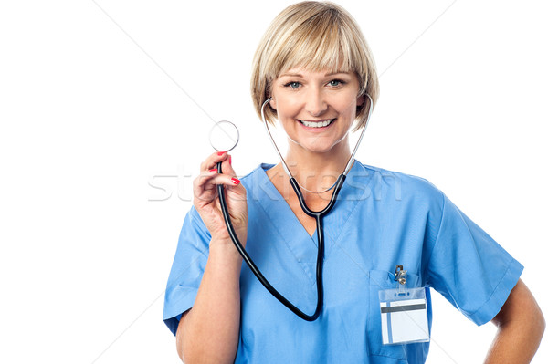 Medical professional ready to examine you Stock photo © stockyimages
