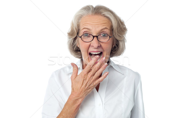 Amazed senior citizen Stock photo © stockyimages