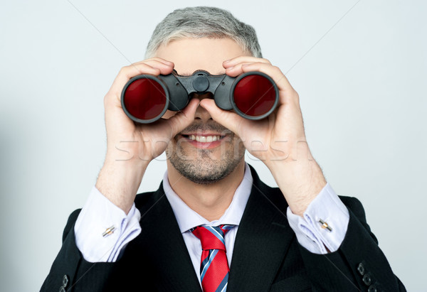 Businessman hunting talents Stock photo © stockyimages
