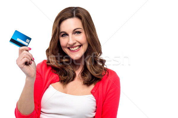 ストックフォト: クレジットカード · ショッピング · 簡単 · トレンディー · 女性