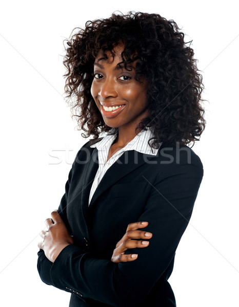 Photo stock: Réussi · jeunes · femme · d'affaires · portrait · souriant · posant